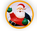 Advertising Christmas Balloons - cold-air balloons available for rental also.