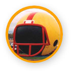 Football hemet cold-air advertising balloon - all types of advertising inflatables available for sale or rent.